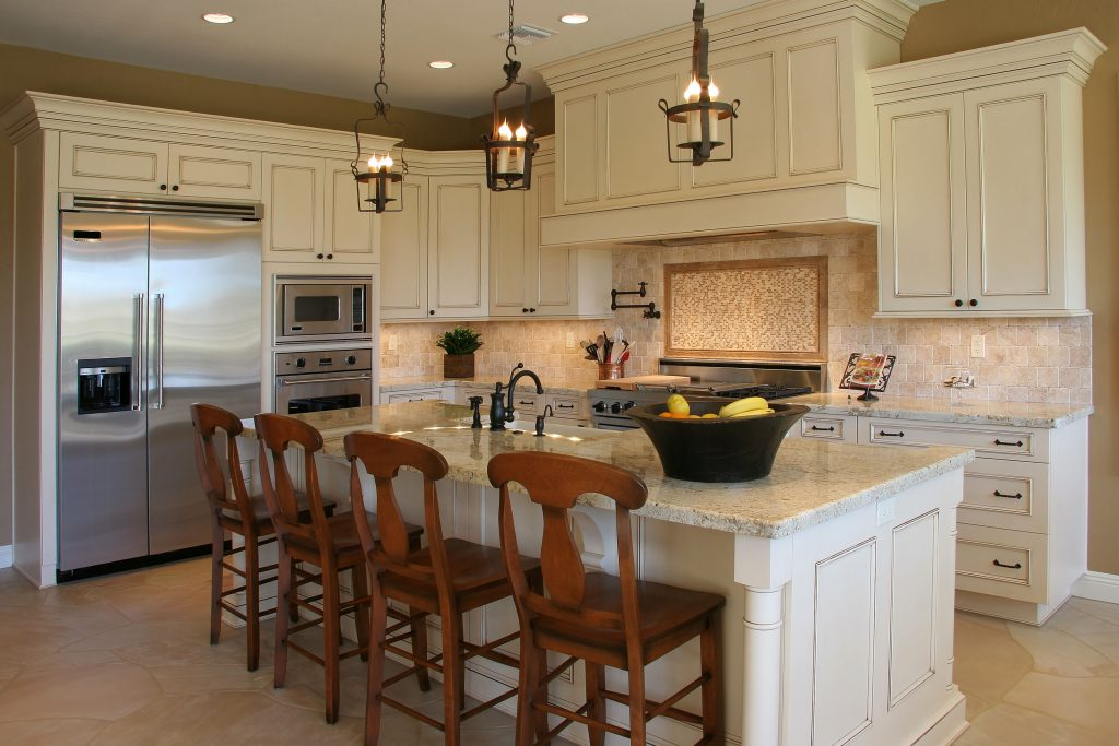 Modern custom kitchen remodeling with table center island