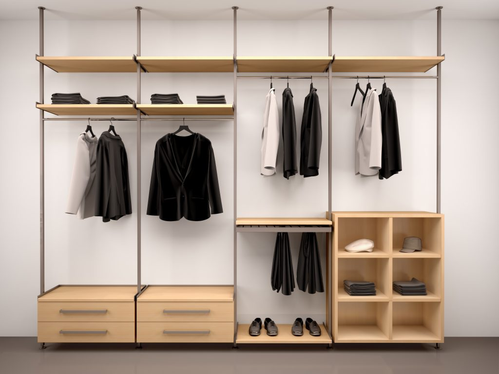 Custom closet with shelving